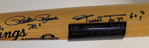 Players of the Decade Willie Mays & Pete Rose Auto