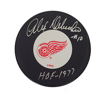 Alex Delvecchio Signed Pucked