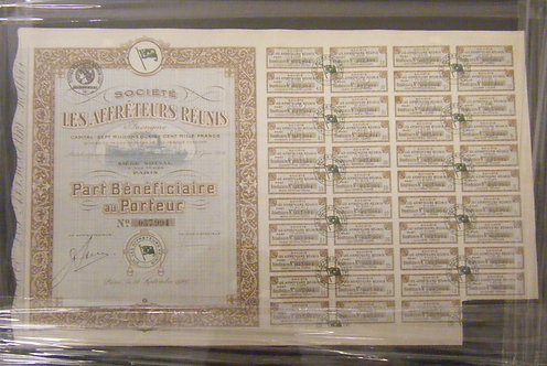 Large Stock Certificate
