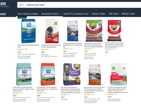 Top Ten Search for Natural Pet Food