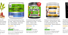 CBD & Hemp-Oil Derived Products:  Consumers are NOT saying they are 'going to  dogs'