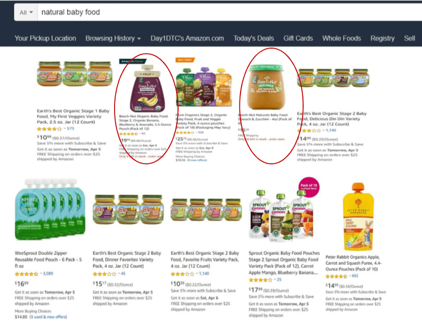 Natural Baby Food Top Ten Search