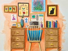 Orange Desk