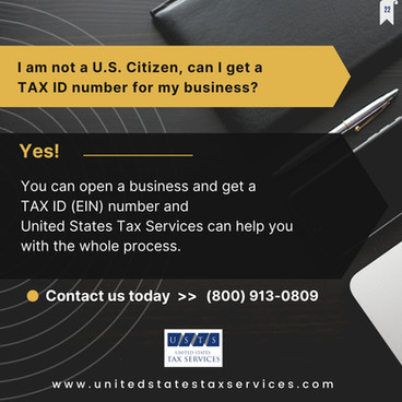 If You're Not a U.S. Citizen, Can You Get a TAX ID number for Your Business ?