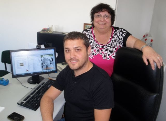 Matan Stein and Dolly Burda, editors of Orizontes, an online Ladino magazine.