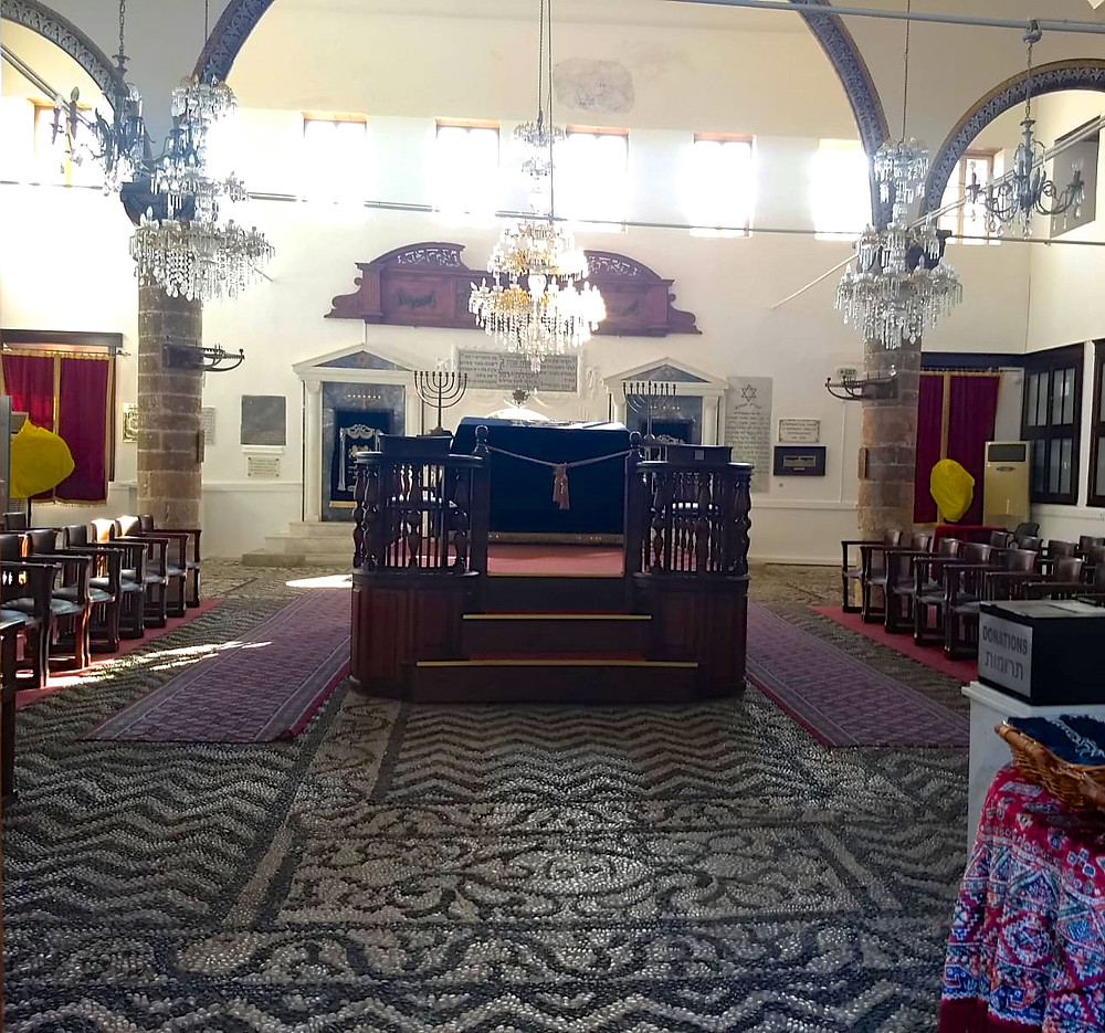 The Kal Kadosh Shalom Synagogue, on the island of Rhodes, is the oldest in Greece.
