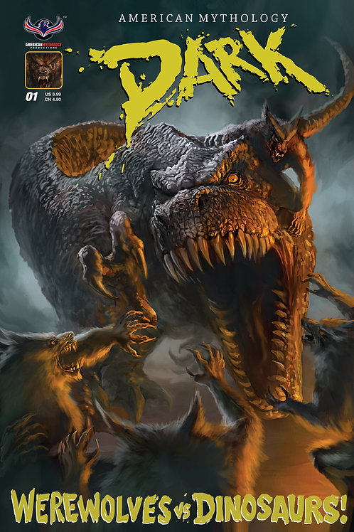 American Mythology Dark: Werewolves Vs Dinosaurs #1 Main Cvr