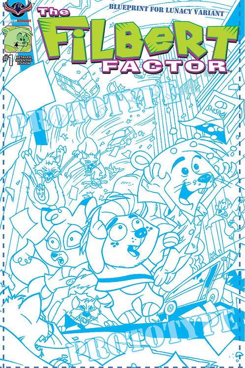 Filbert Factor #1 Rejected by Free Comic Book Day Ltd Blueprint Cvr 1/250