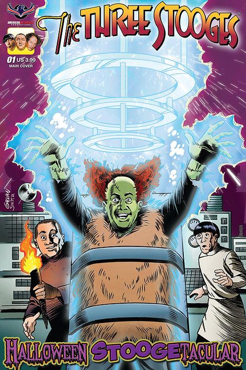 Three Stooges Halloween Stoogetacular Galvan Main Cover