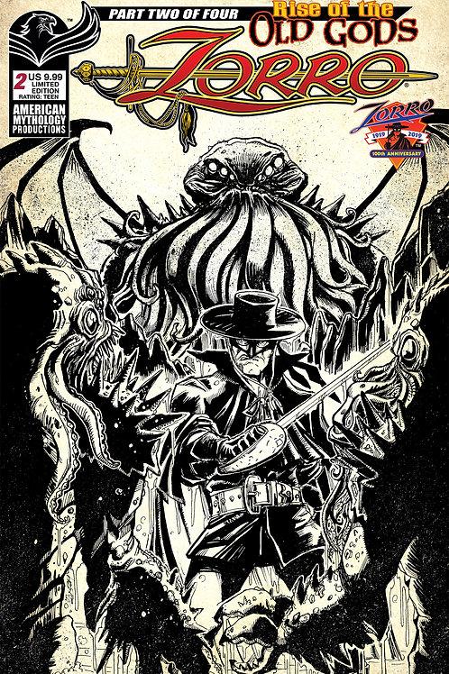 Zorro Rise of the Old Gods #2 Ltd Ed 1/350 Pulp Cvr