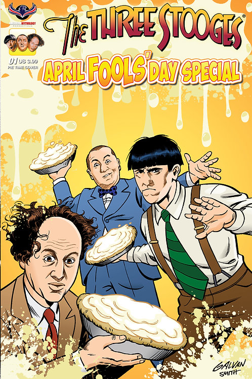 The Three Stooges April Fools #1 Pie Time Galvan Cover