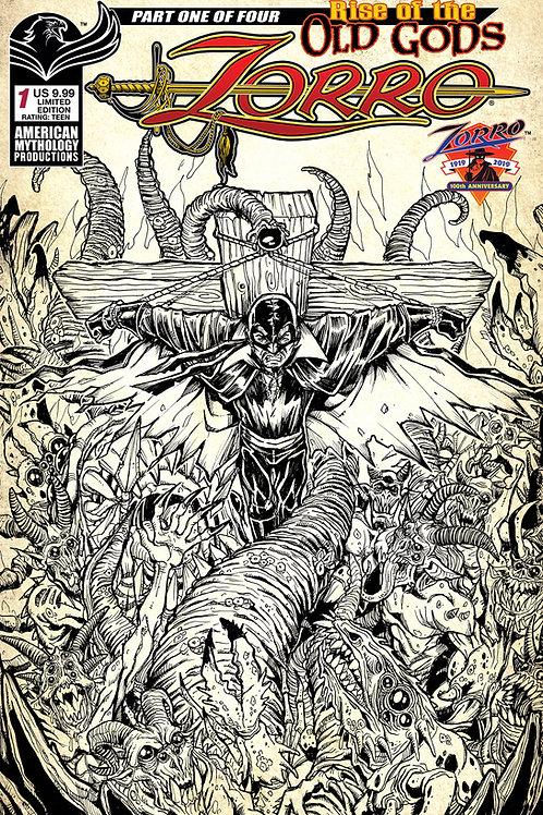 Zorro Rise of the Old Gods #1 Ltd Ed 1/350 Pulp Cvr