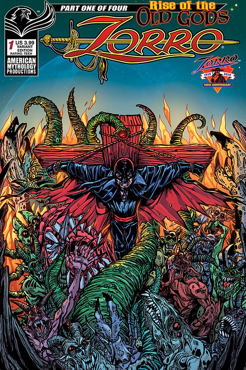 Zorro Rise of the Old Gods #1 Calzada Lovecraftian Horror Cvr