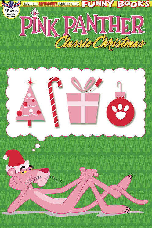 Pink Panther Classic Christmas #1 Ltd Ed 1/350 Retro Animation Cvr
