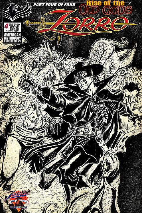Zorro Rise of the Old Gods #4 1/350 Ltd Ed Cvr