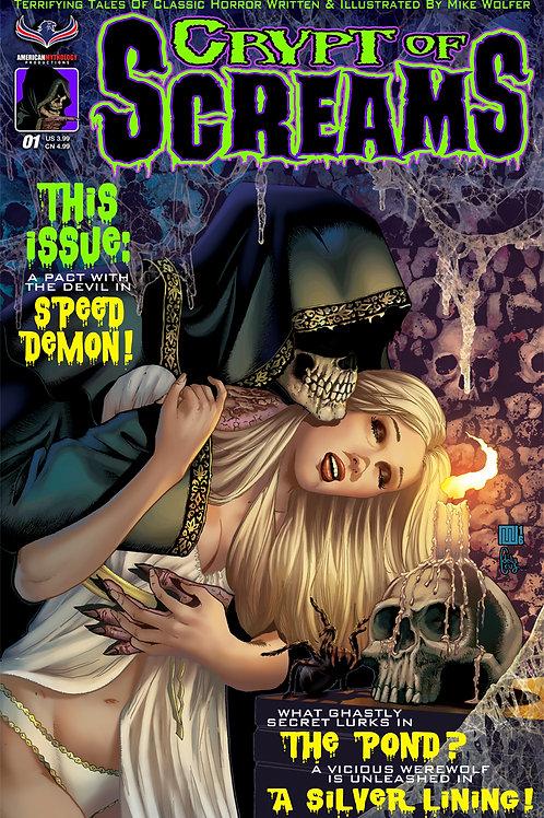 Mike Wolfer's: Crypt of Screams #1 Main Cvr (MR)