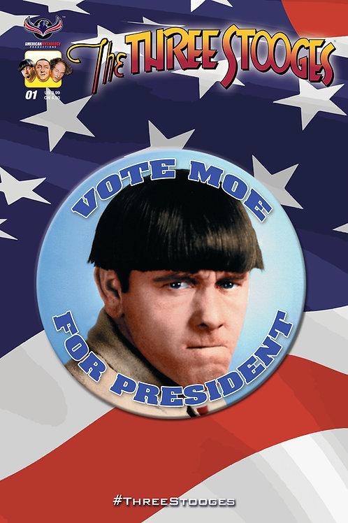The Three Stooges RW&S #1 Vote Moe Cvr