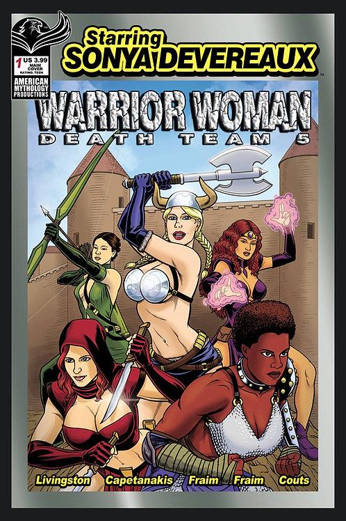 Starring Sonya Devereaux Warrior Woman Death Team 5 Main Cvr