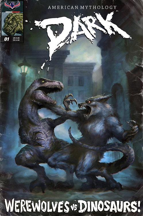 American Mythology Dark: Werewolves Vs Dinosaurs #1 Retailer Pulp Cvr