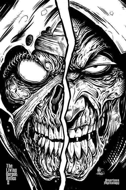 Living Corpse Relics Encore Ed #2 Ltd Ed B&W Raw Cvr