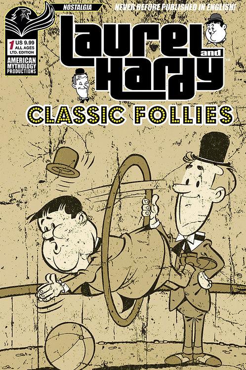 Laurel & Hardy Classic Follies #1 Ltd Ed 1/350 Antique Cvr