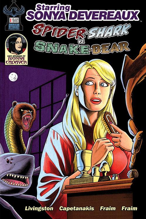 Starring Sonya Devereaux SpiderShark vs. SnakeBear Cvr B Horror Parody