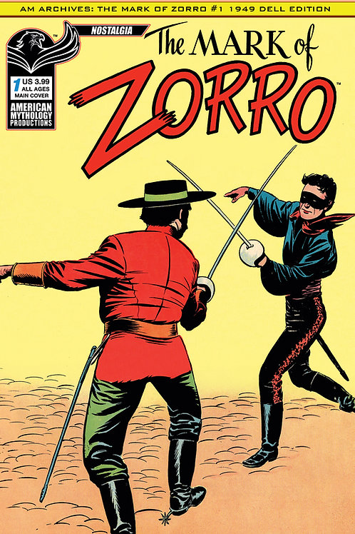 AM Archives Mark of Zorro #1 1949 Main Cvr