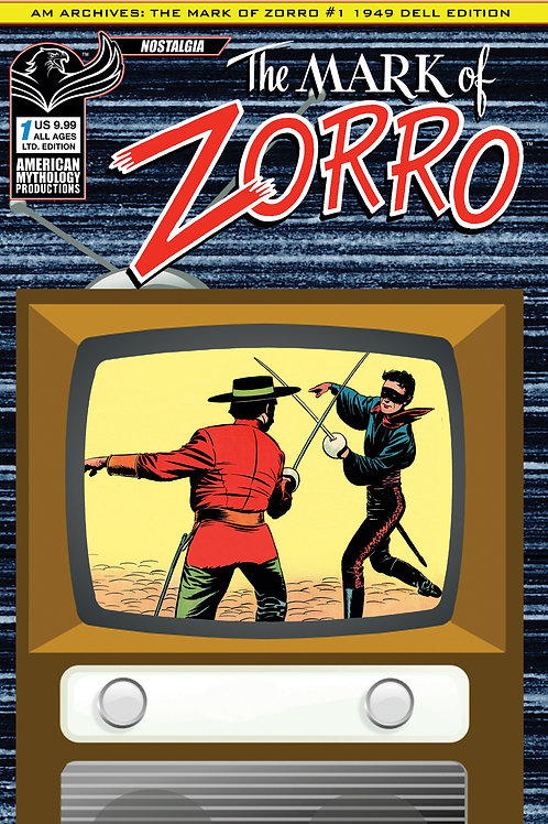 AM Archives Mark of Zorro #1 1949 Ltd Ed 1/350 Cvr