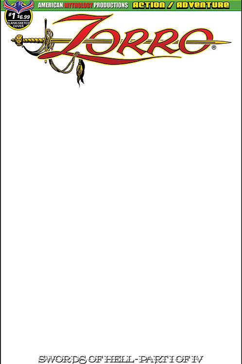 Zorro Swords of Hell #1 Blank Sketch Cvr #1