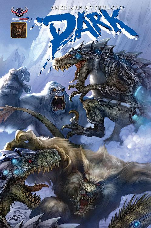 American Mythology Dark: Werewolves Vs Dinosaurs Vs Yetis #1 Frank Cvr