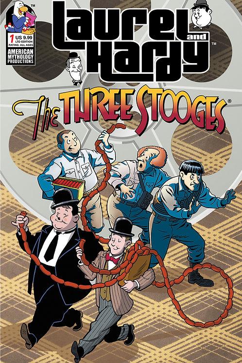 Laurel & Hardy Meet The Three Stooges #1 1/350 Ltd Ed Cvr