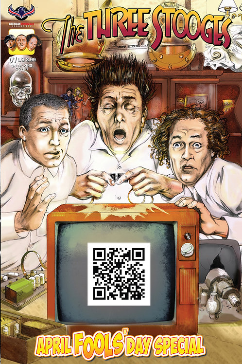 Virtual FCBD Signed by 5 Creators - Three Stooges April Fools