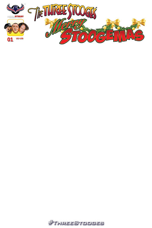 The Three Stooges Merry Stoogemas #1 Blank Sketch Cover