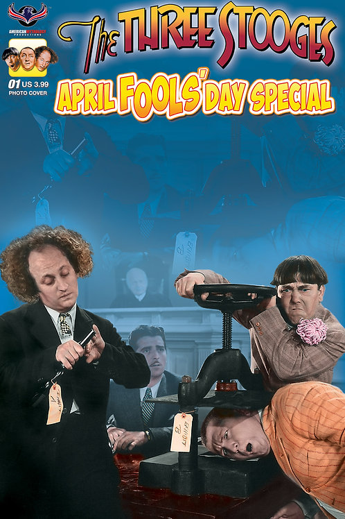 The Three Stooges April Fools #1 Color Photo Cover Cover