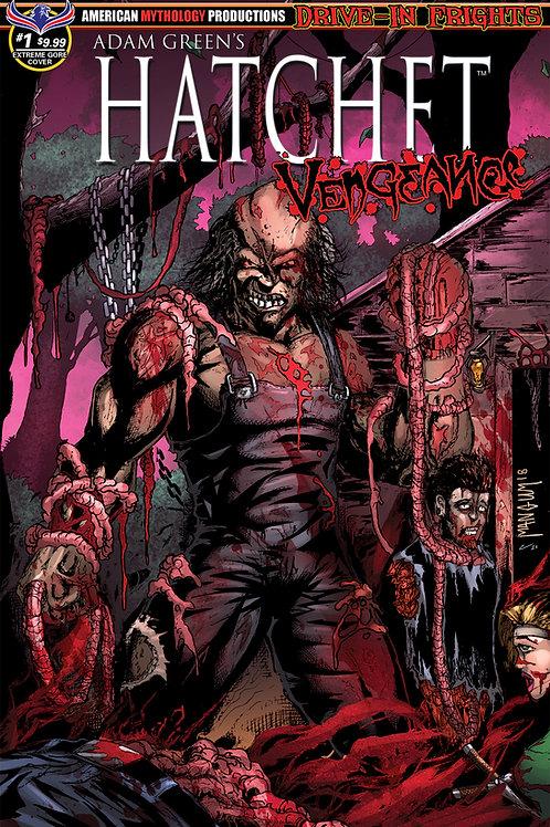 Adam Green's Hatchet Vengeance #1 Ltd Ed 1/350 Extreme Gore Cvr