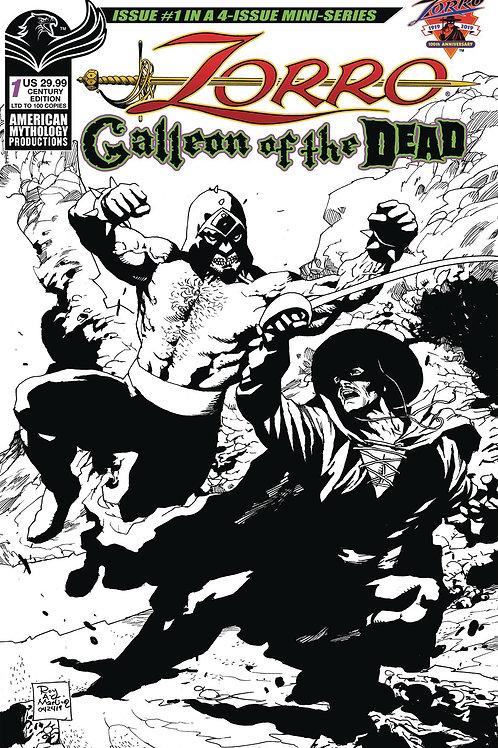 Zorro Galleon of the Dead #1 1/100 Century Ltd Ed Cvr