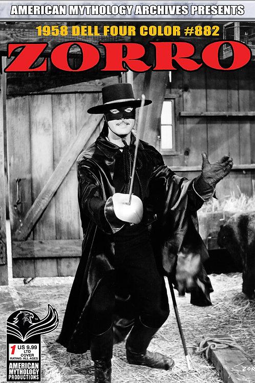 AM Archives Zorro 1958 Dell Four Color #882 1/350 Ltd Ed B&W Photo Cvr