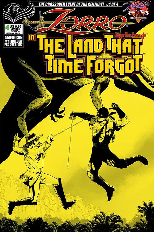 Zorro In The Land That Time Forgot #4 1/350 Ltd Ed Pulp Cvr