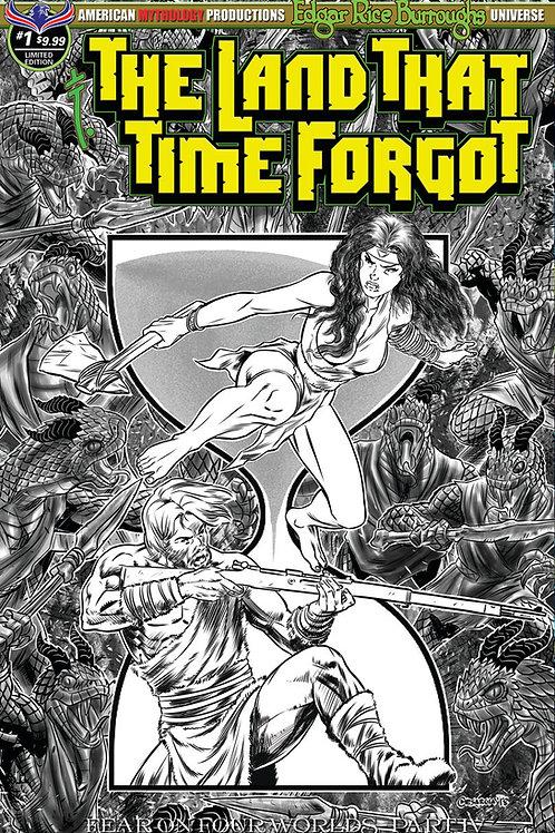 Land That Time Forgot #1 Fear on Four Worlds Pt4 B&W Ltd Ed 1/400 Cvr