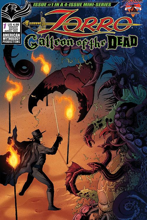 Zorro Galleon of the Dead #1 Wolfer Cvr
