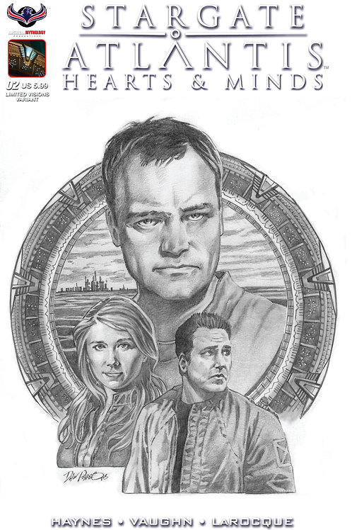 Stargate Atlantis Hearts & Minds #2 Visions in B&W Premium Cover