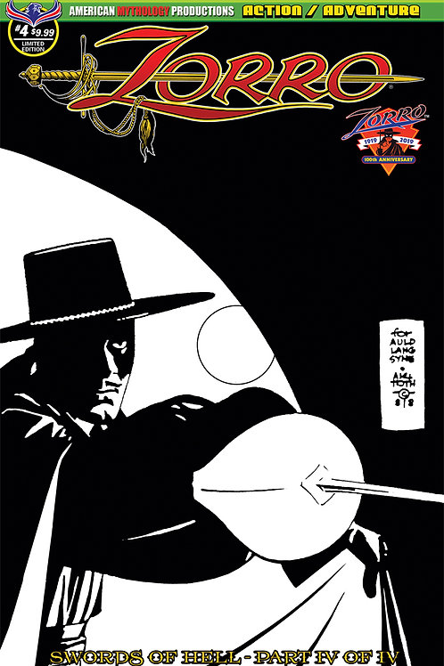 Zorro Swords of Hell #4 Visions of Zorro Alex Toth Ltd Ed 1/450 Cvr