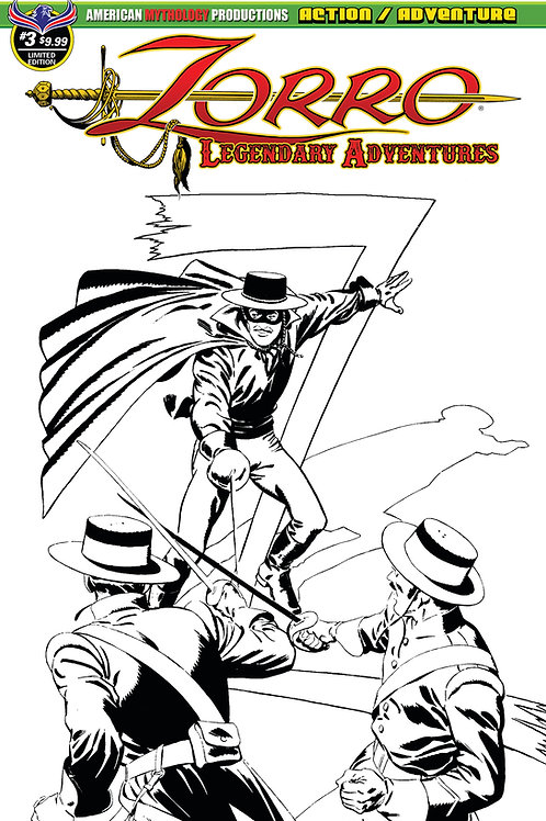Zorro Legendary Adventures #3 1/350 Blazing Blades Ltd Ed Cvr