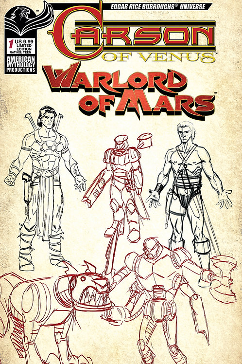 Carson of Venus / Warlord of Mars #1 Ltd Ed 1/350 Character Design Cvr