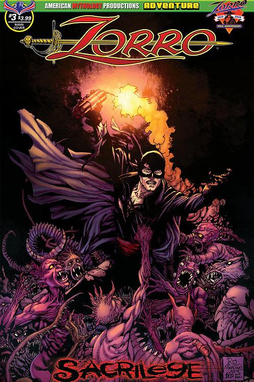 Zorro Sacrilege # 3 Martinez Main Cvr