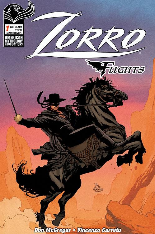 Don McGregor's Zorro Flights #1 Main Cvr