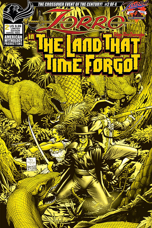 Zorro In The Land That Time Forgot #2 1/350 Ltd Ed Pulp Cvr