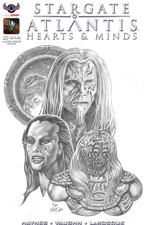 Stargate Atlantis Hearts & Minds #3 Visions in B&W Premium Cover
