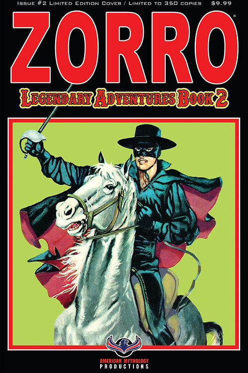 Zorro Legendary Adventures Book II #2 Blazing Blades Ltd Ed 1/350 Cvr