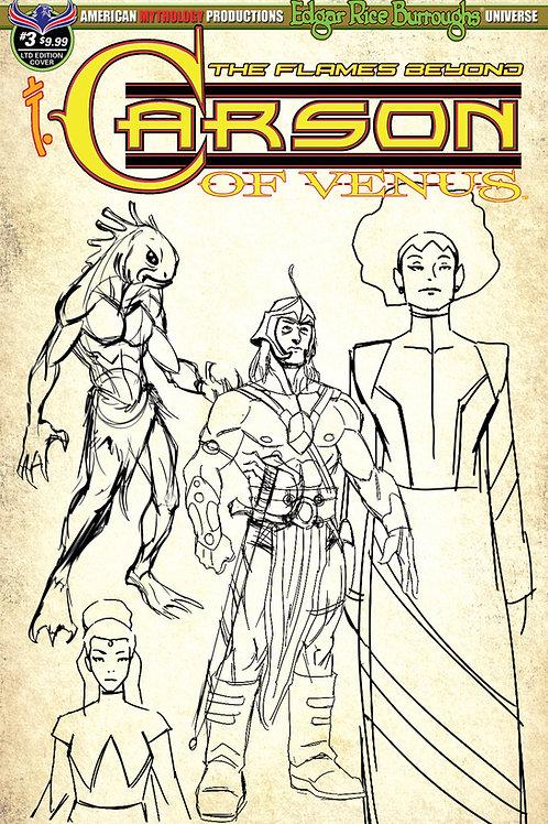 Carson of Venus #3 Flames Beyond 1/350 Ltd Ed Design Cvr